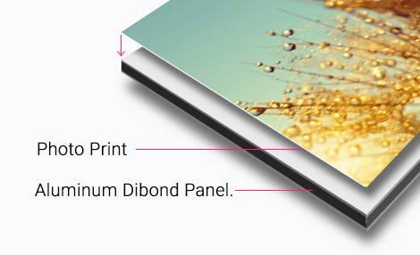 Aluminum print mount