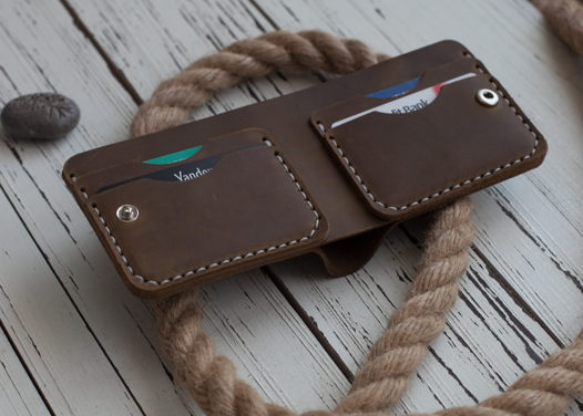 Бумажник из натуральной кожи