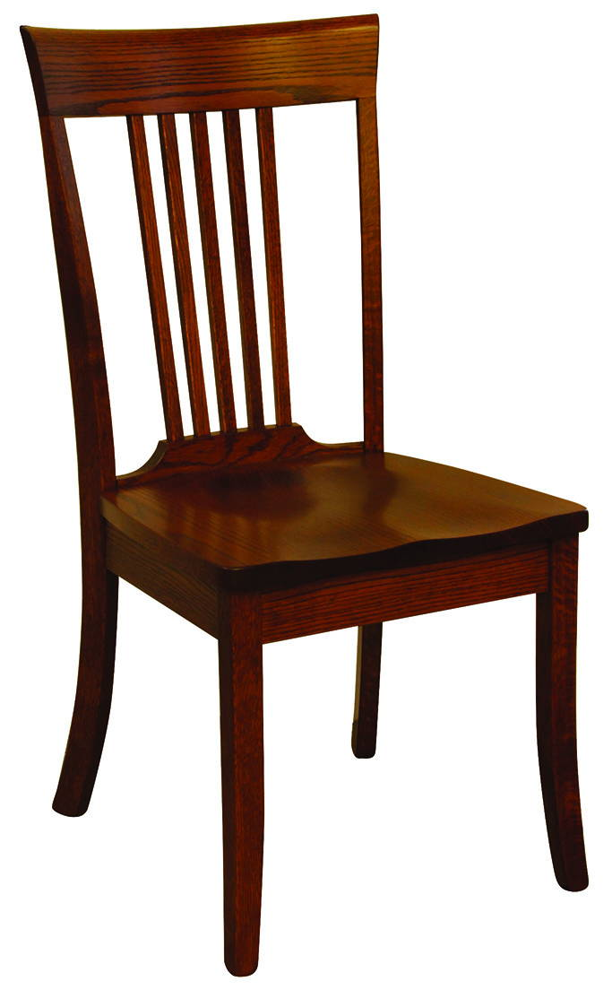 OW 5 Slat Shaker Style Solid Wood, Handcrafted Kitchen Chair or DIning Chair from Harvest Home Interiors Amish Furniture