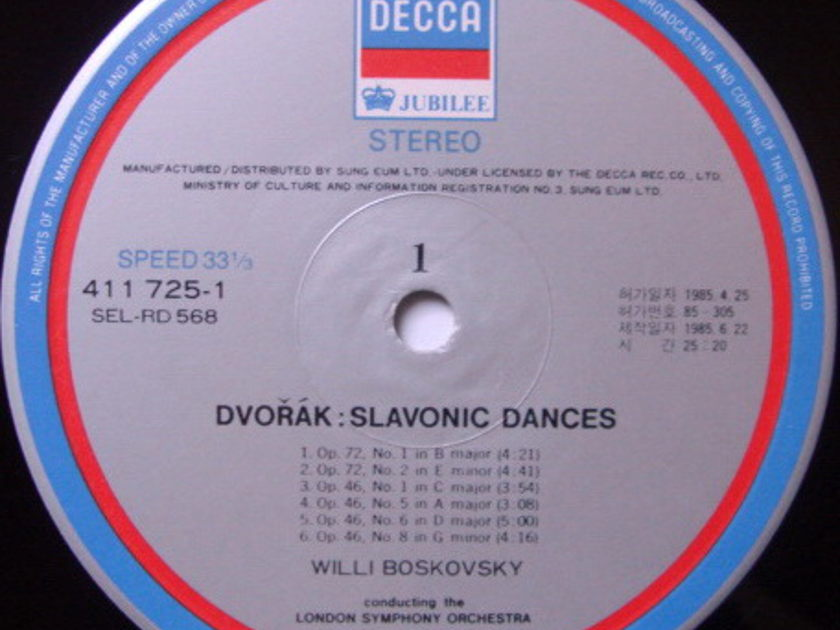 DECCA JUBILEE / BOSKOVSKY, - Brahms Hungarian Dances, NM!
