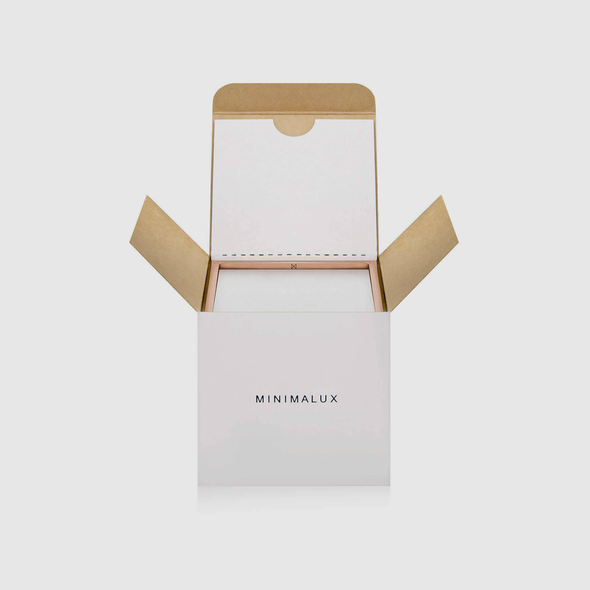 Copper Square Bangle packaging