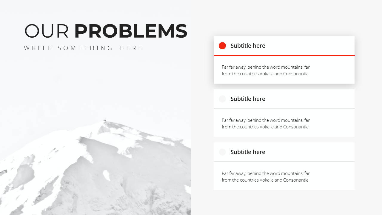 Minimal X Presentation Template Business Plan Problems