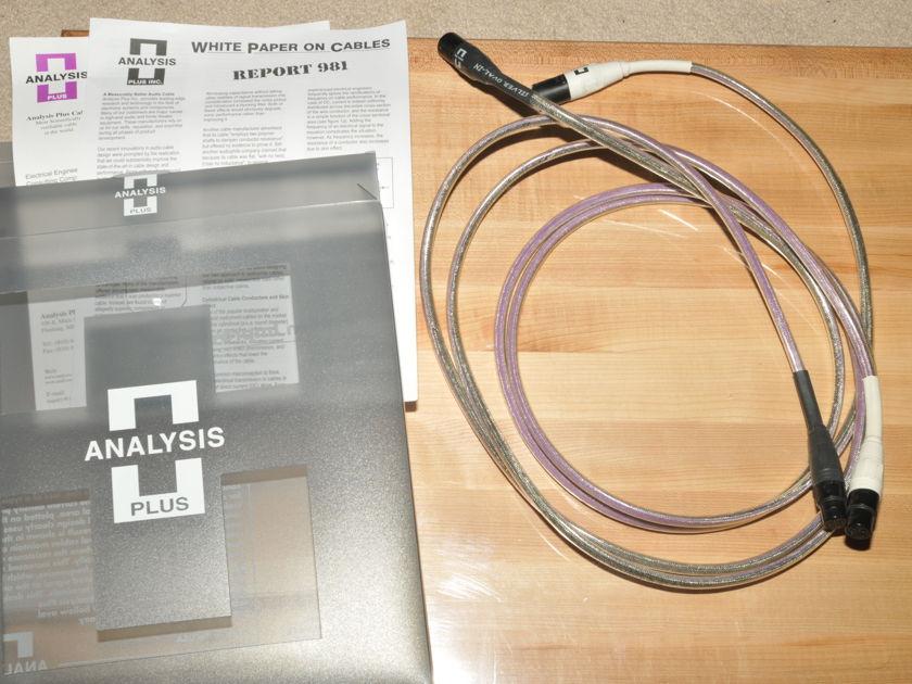 Analysis Plus Silver Oval 1.5 meter XLR