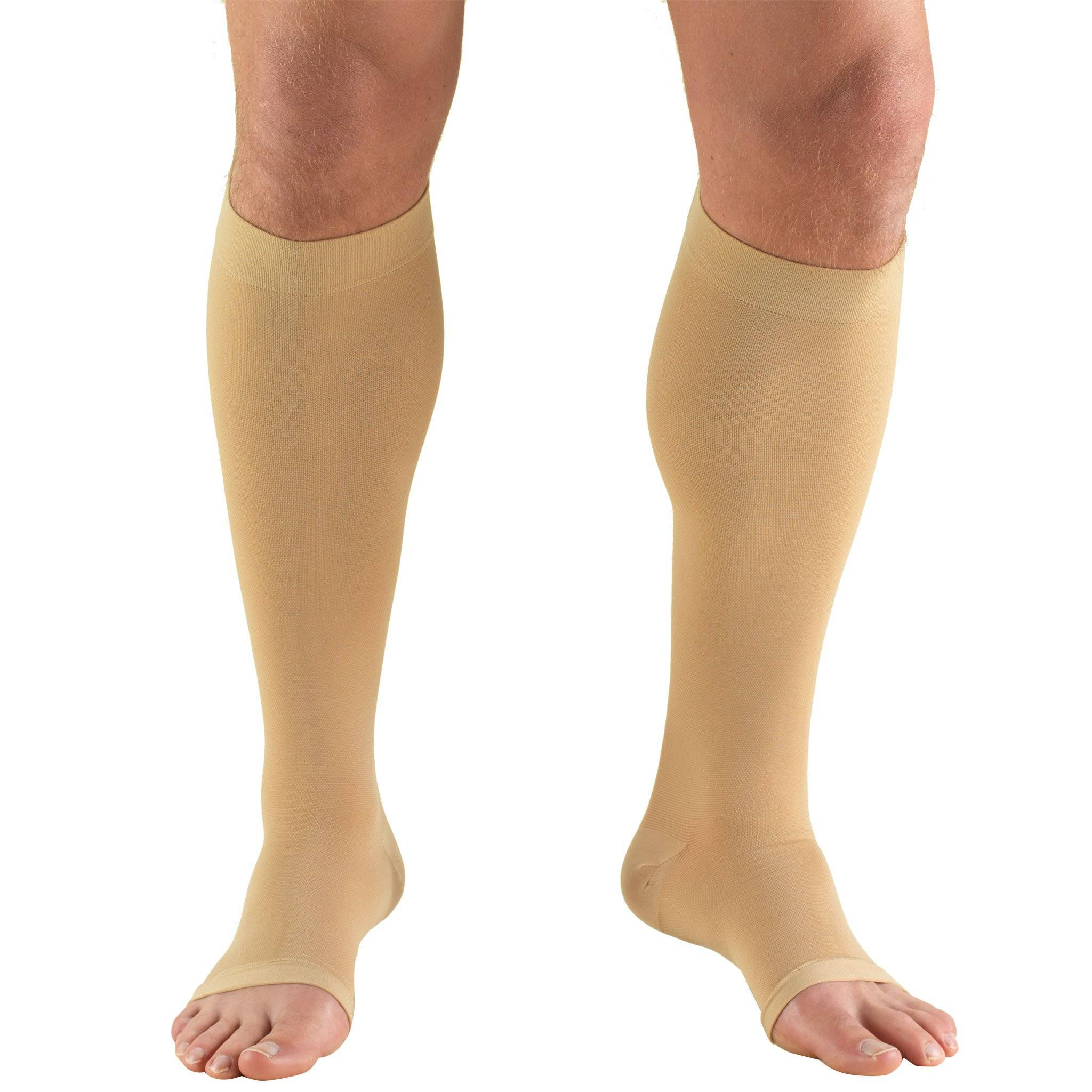 Knee High Open Toe Medical Stockings