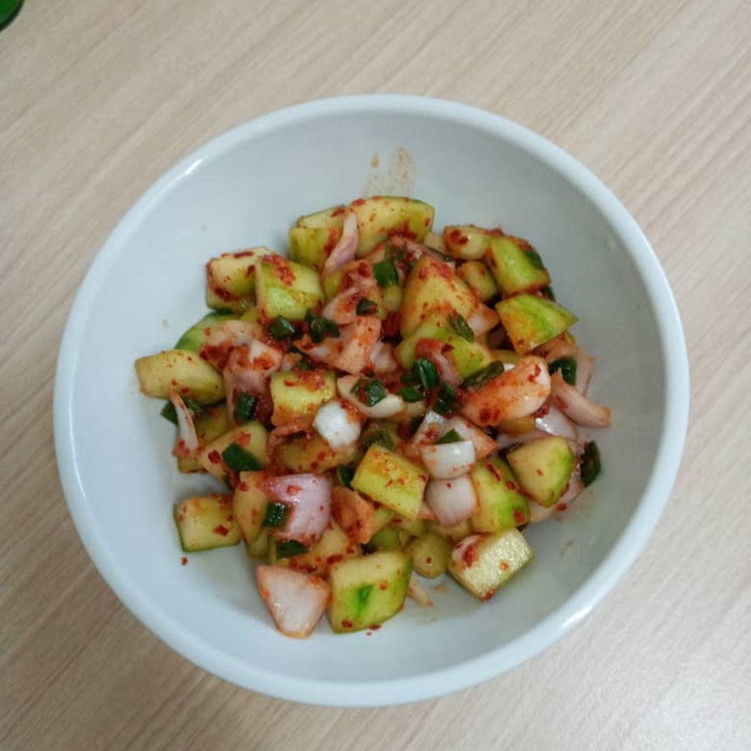 Cucumber Muchim (korean side dish). Quick and simple 😊