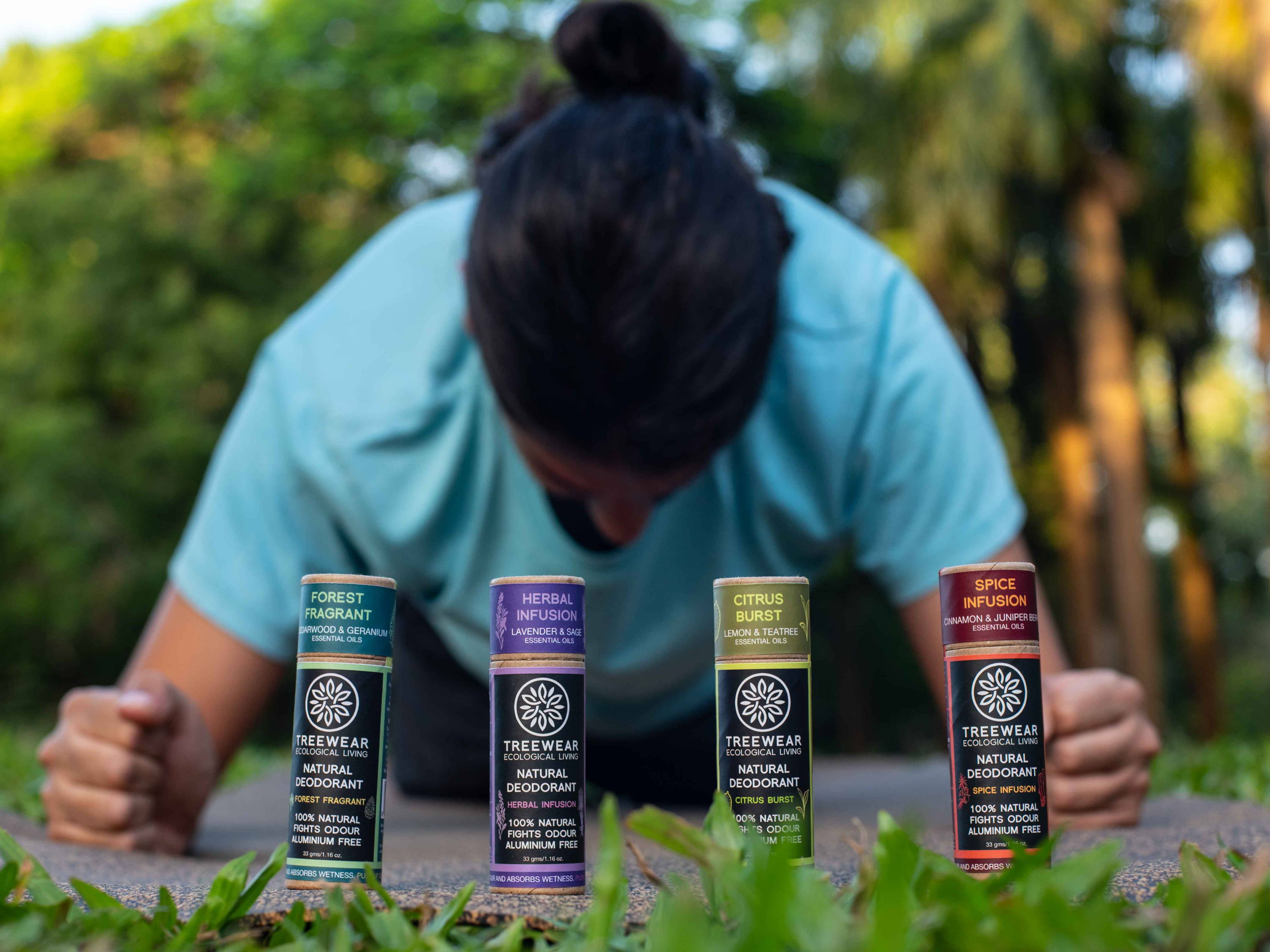 Natural Deodorant Stick - set of 4 planking
