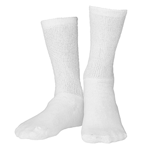 Loose Fit Crew Length Sock in White