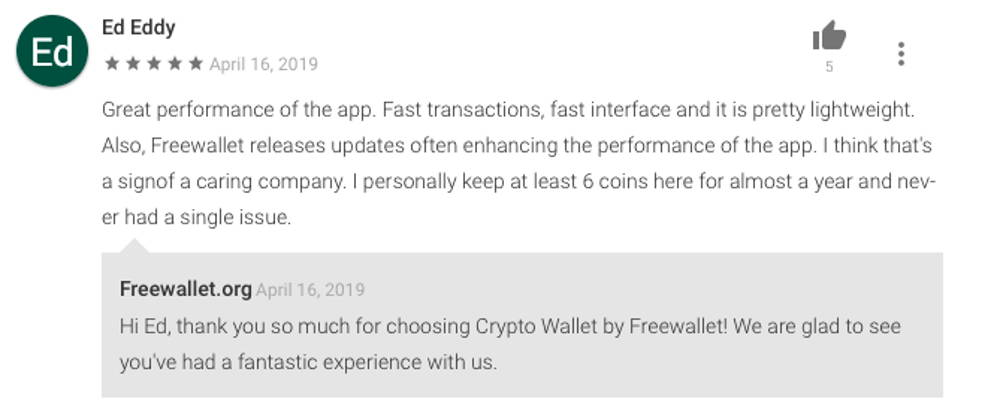 Freewallet: Crypto Wallet review detailed