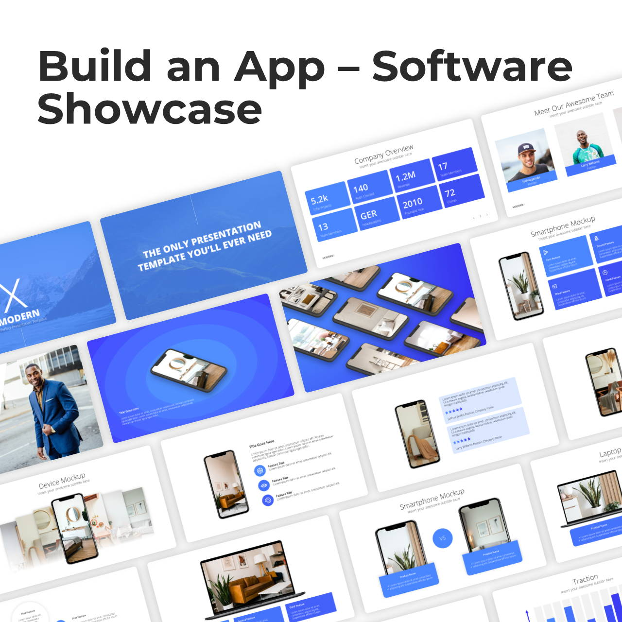 Modern X App/Software Showcase Presentation Template