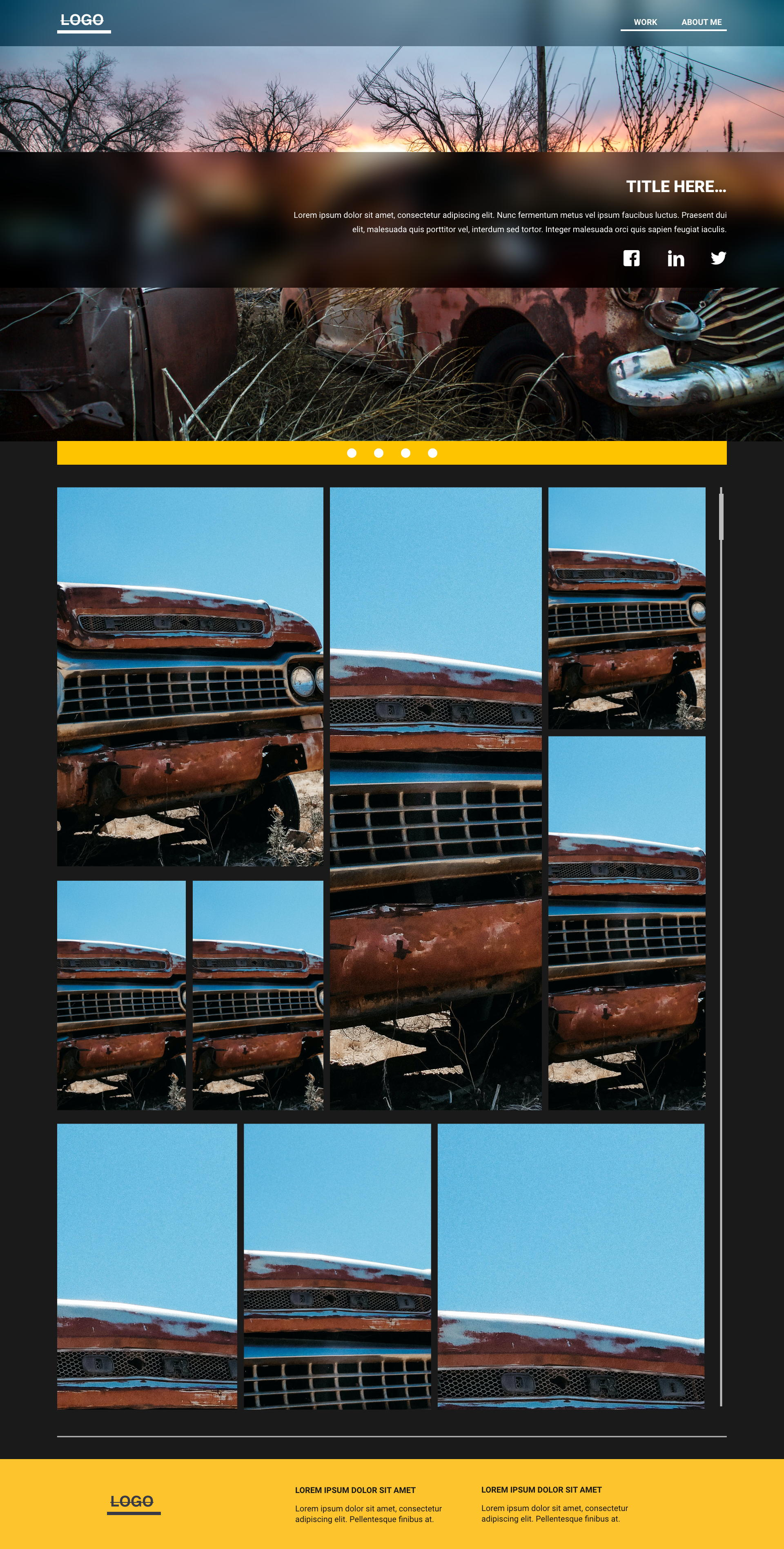 Rust template's gallery image