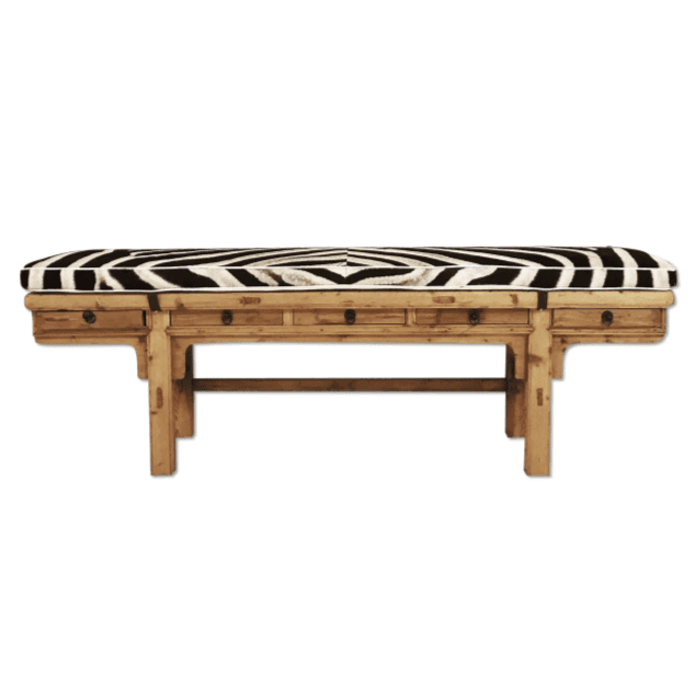 Zebra Hide Benches