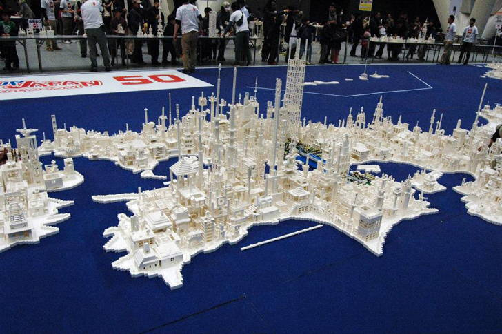 Japan map LEGO sculpture