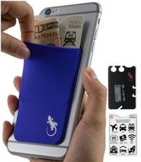 phone wallet Purple with White logo by gecko travel tech