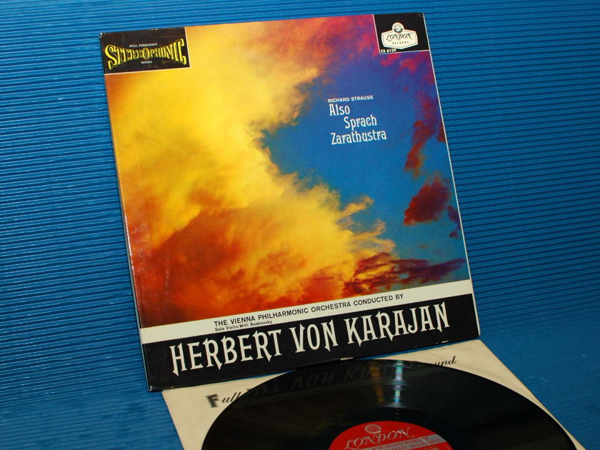 "STRAUSS/Von Karajan - - ""Also Sprach Zarathustra"" - London 'BB' 1959 early pressing"