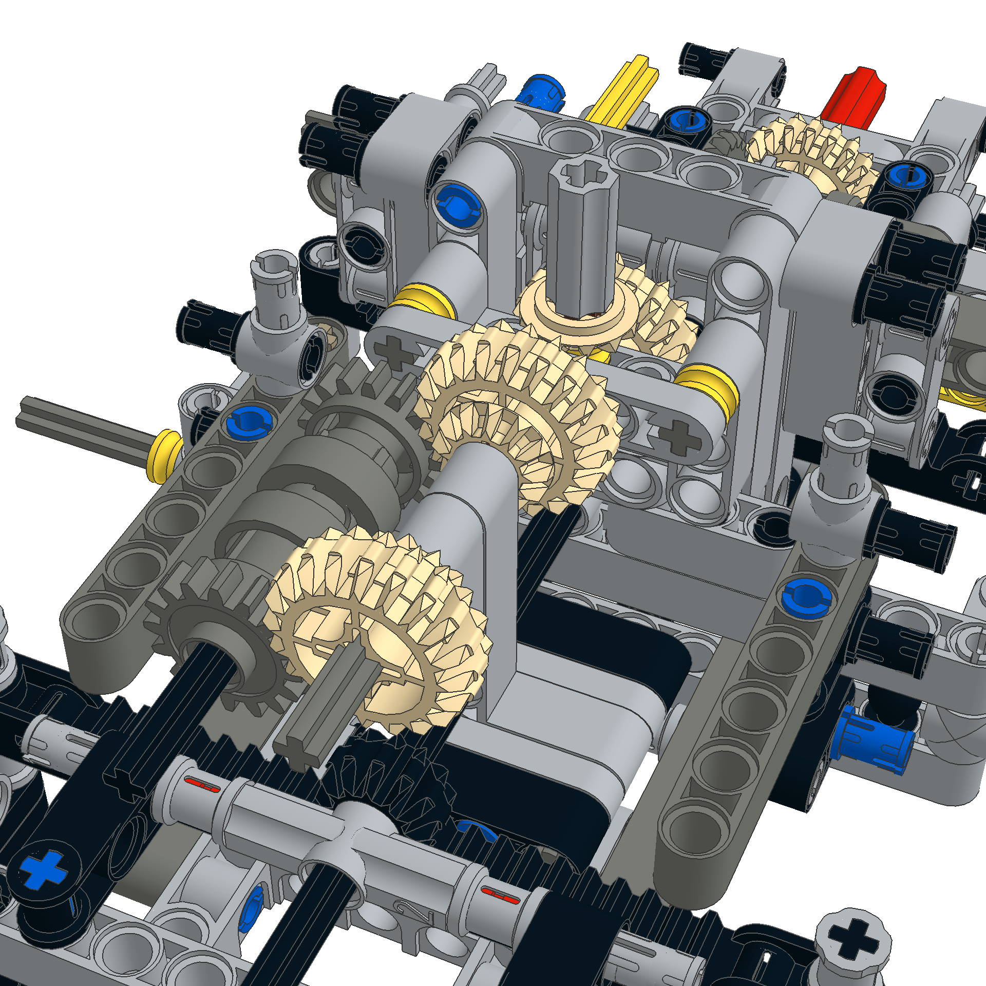lego 42009 gearbox
