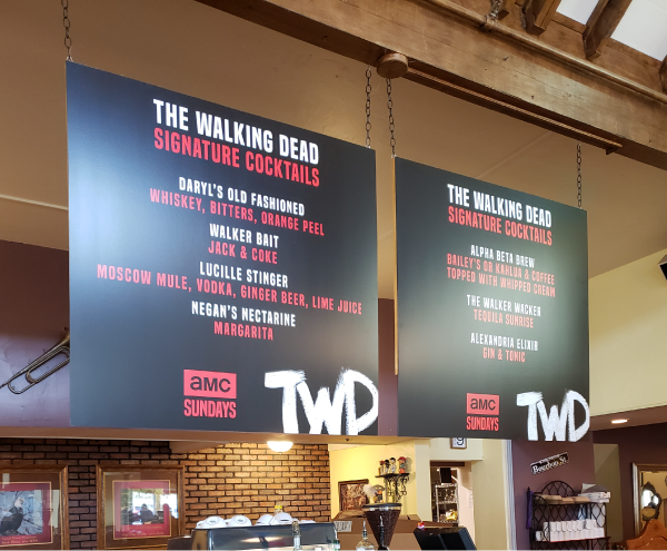 Signs & Banners - AMC Walking Dead Menu Boards