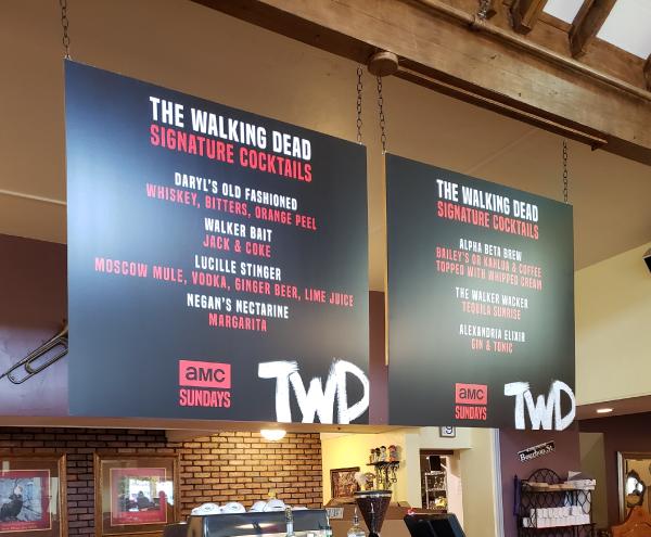 Signs & Banners - AMC Walking Dead Menu Boards