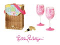 A Wine Basket Set & Gift Card from Lilly Pulitzer!