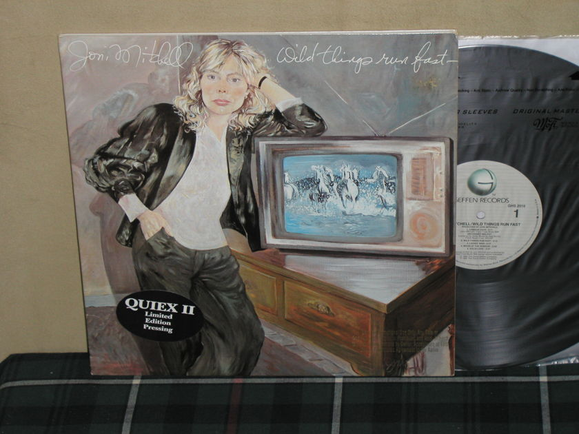 Joni Mitchell - Wild Things Run Fast QUIEX II Geffen Promo LP   TAS