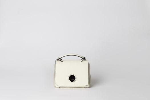 Мини сумка-портфель FREYA кремового оттенка в сочетании с замшей. В наличии в Москве