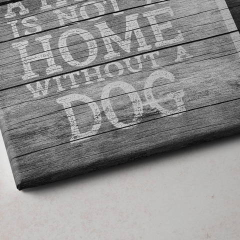 House is not a home without a home, canvas print closeup picture