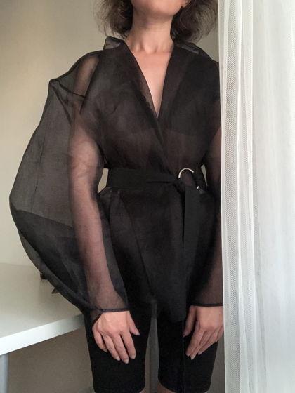 Прозрачная блузка из хлопковой органзы