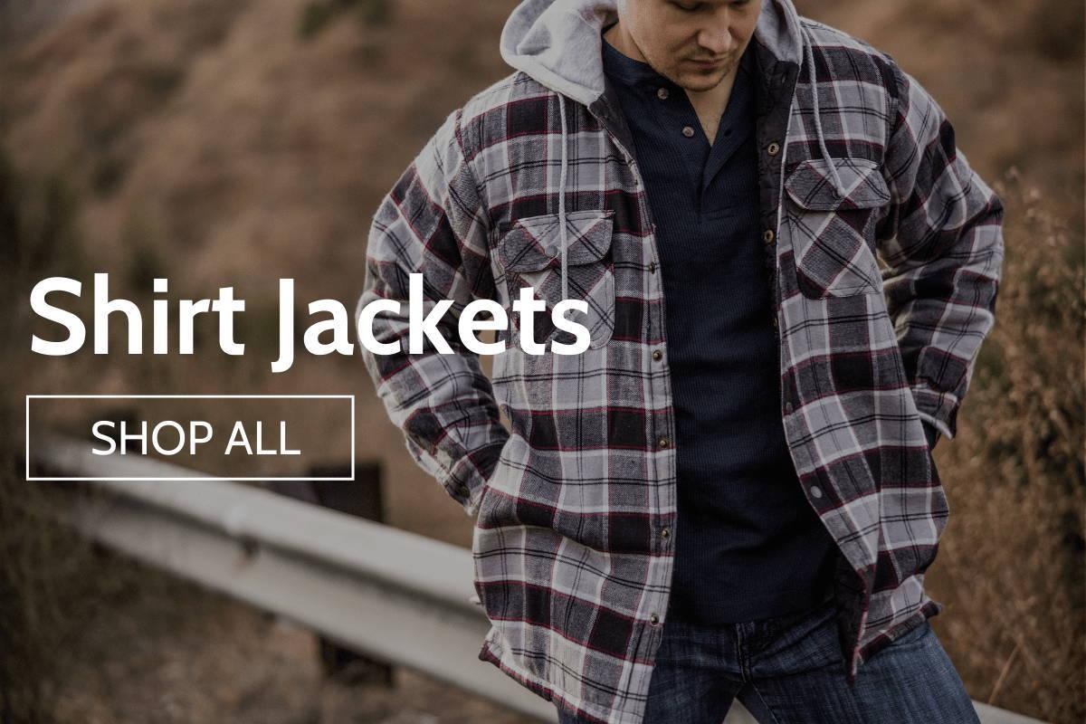 Man wearing shirt jacket