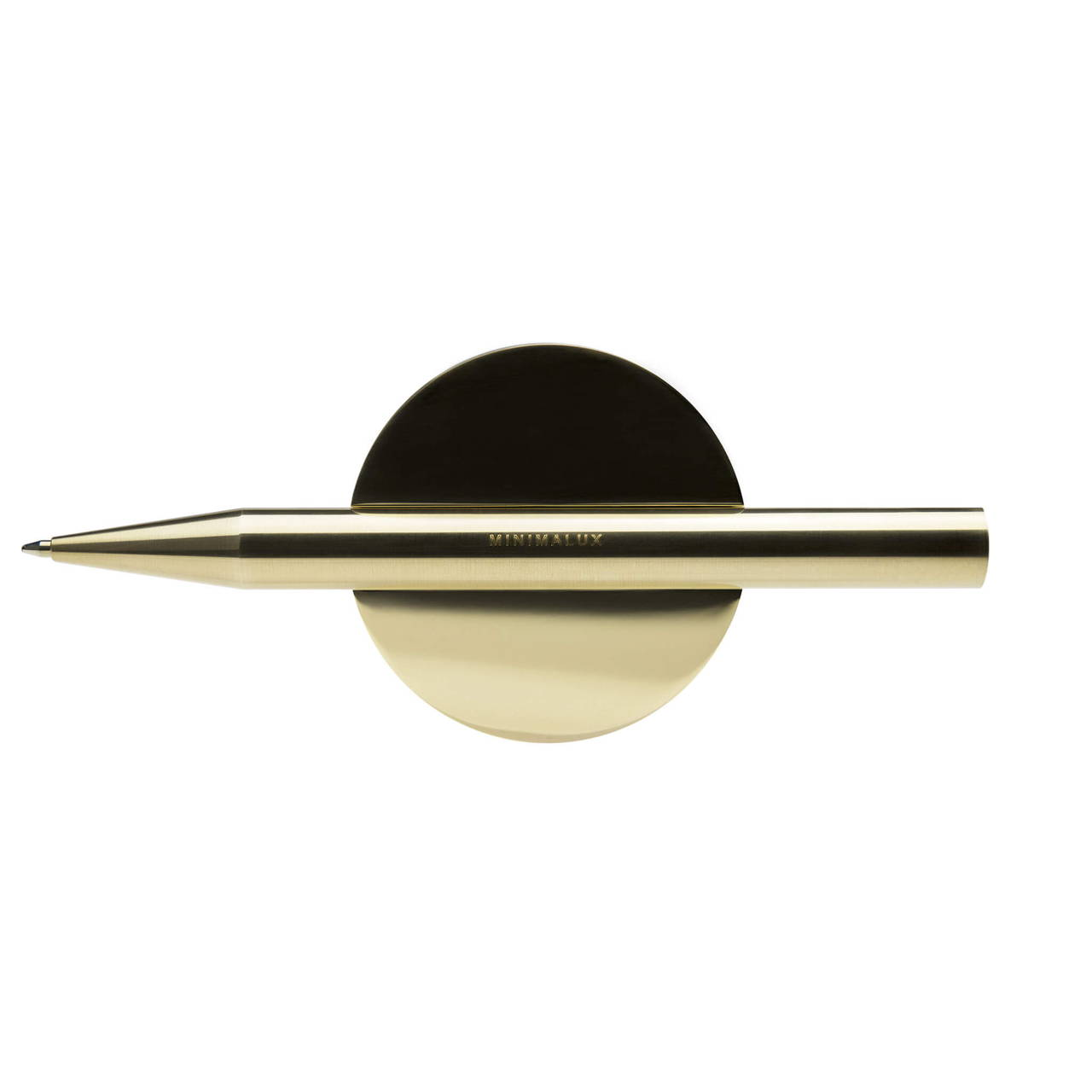 Brass Pen Rest with Ballpoint