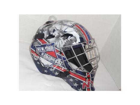 New York Rangers Helmet - Signed by Henrik Lundqvist