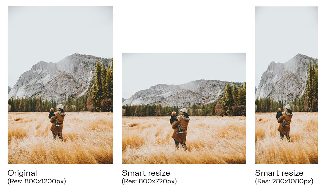 Automatically resize images after website redesign