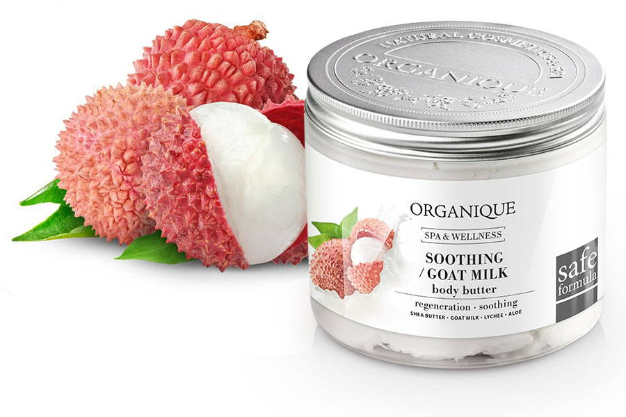 Organique Soothing Goat Milk and Lychee Body Butter For Sensitive Skin 200ml