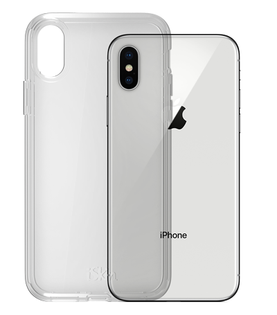 iSkin Claro for iPhone X clear drop protection - Claro Clear