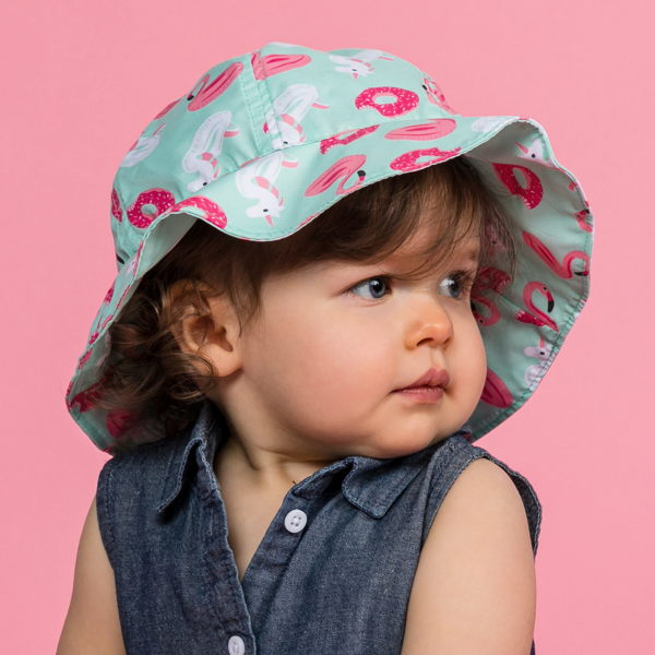 child with toddler girls hats