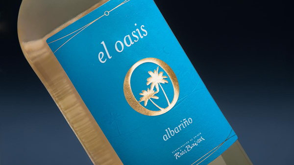 White wine labels for El Oasis