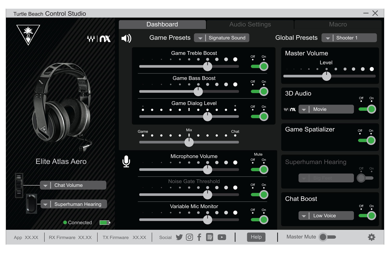 dashboard - control studio