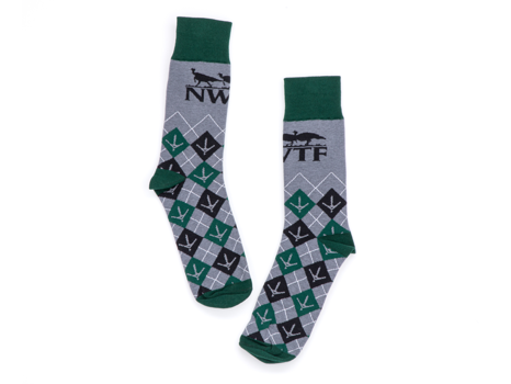 Custom NWTF Dress Socks w/ Vortex Hat