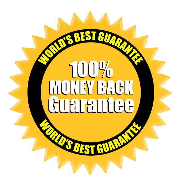 World's Best Graffiti Remover purchase is covered by a 30 Day, 100% Money Back Guarantee Logo