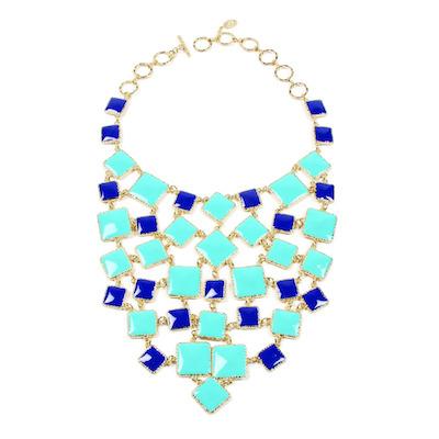 Color Block Bib Necklace by Amrita Singh