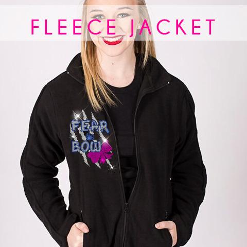 glitterstarz custom rhinestone bling basics fleece jacket black