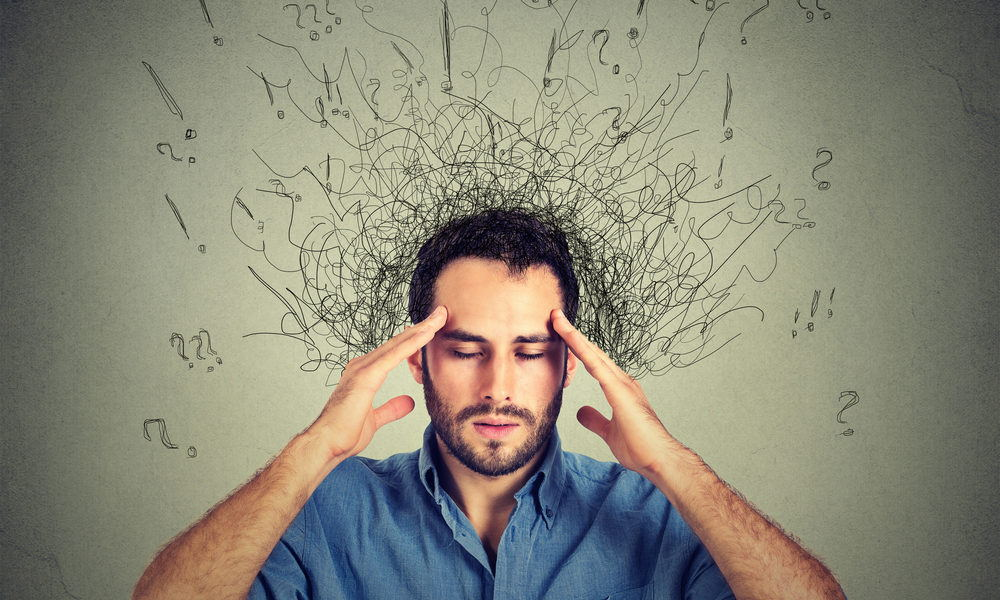 Man with chronic depression