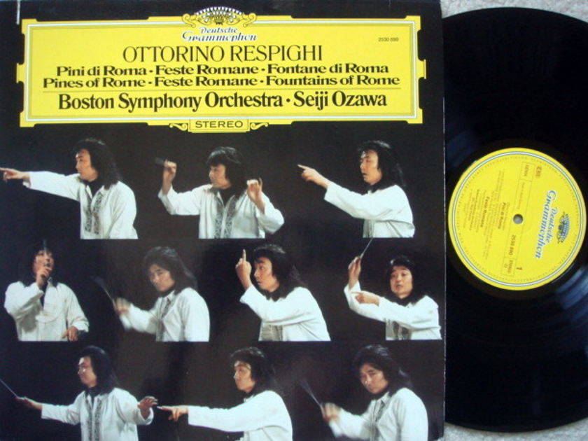 DG / SEIJI OZAWA-BSO, - Respighi Pines/Fountains of Rome, NM!