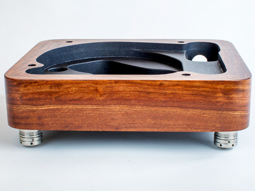 Thorens TD124 Plinth in Caribbean Rosewood by Woodsong Audio