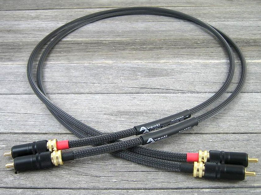 Avanti Audio  Allegro 1.0M Locking  RCA Interconnects