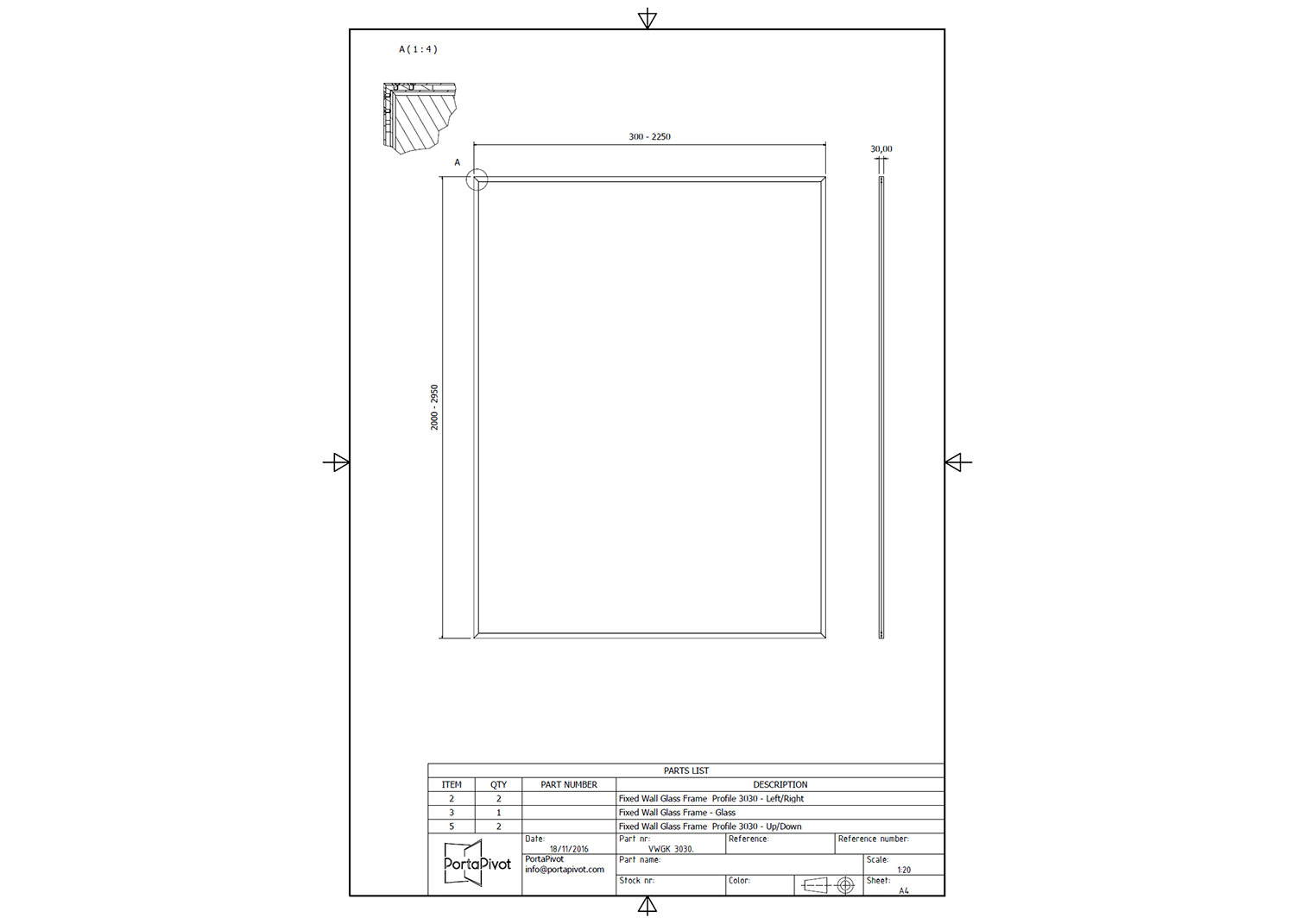 Portapivot 3030 technical files dwg dxf pdf