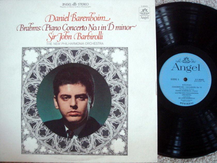EMI Angel Blue / BARENBOIM-BARBIROLLI, - Brahms Piano Concerto No.1, MINT!