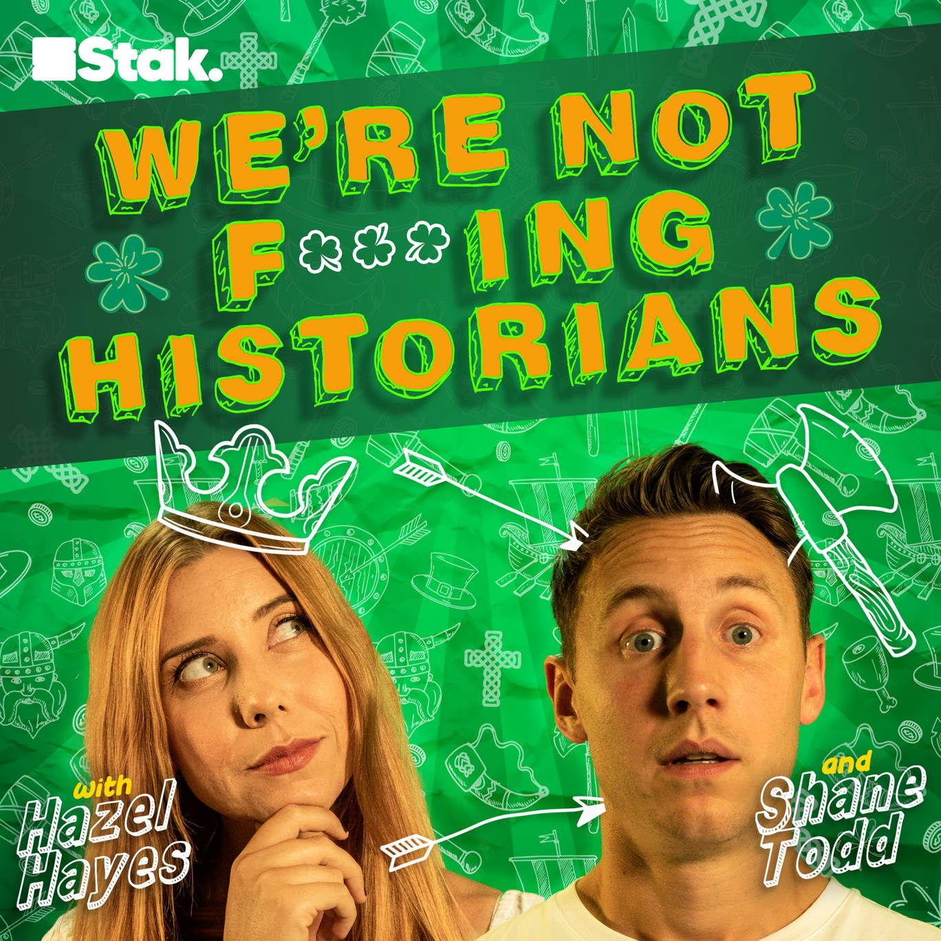 The artwork for the We're Not F***ing Historians podcast.