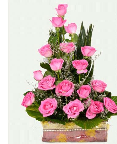 hf Tribute Flowers Basket