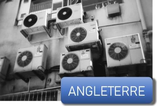 des climatiseurs sur un immeuble en Angleterre
