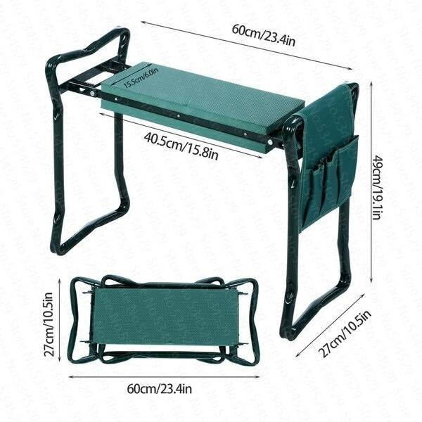 chair-fold-garden-Kneeler-seat-multifunctional-steel-stainless steel-stool-150KG-gardenconfy-details-2