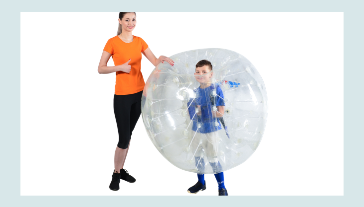 bubblefootball frau kindimbumperz